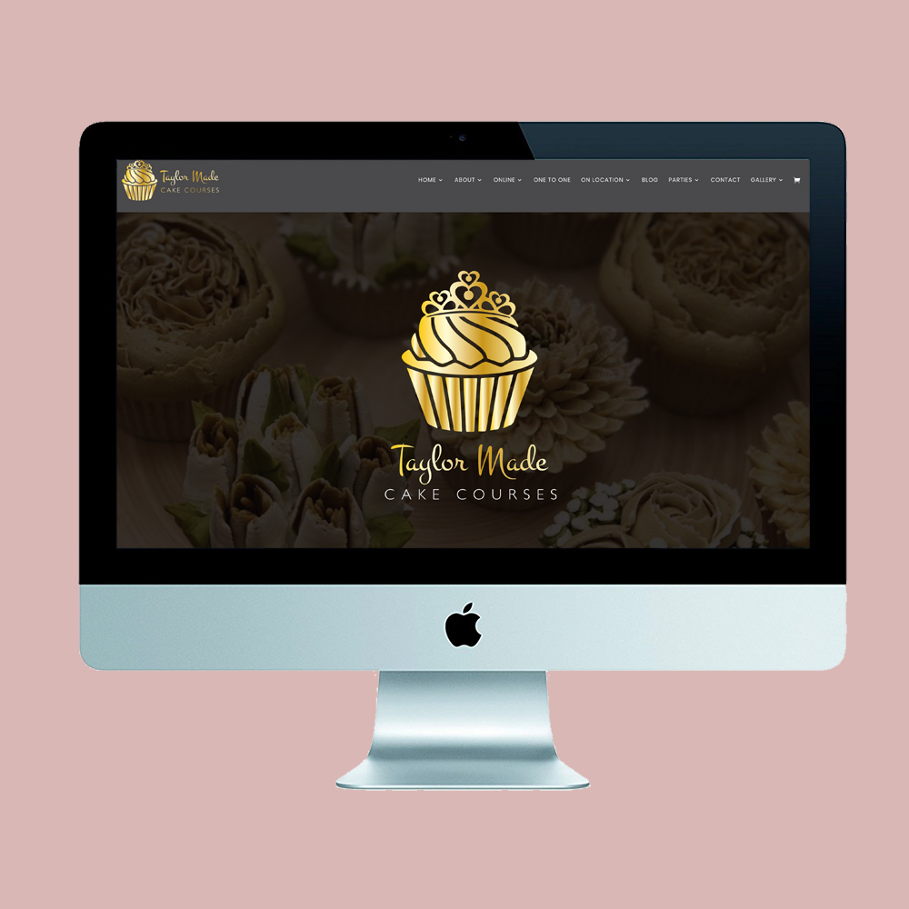 Taylor Made Cake Courses - website and branding
