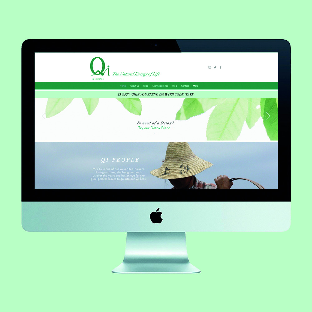 website design, qi teas,