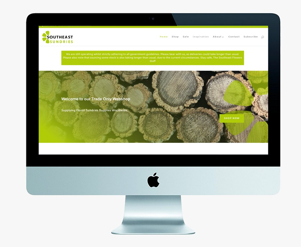 southeast sundries, rcokpool creative, website design